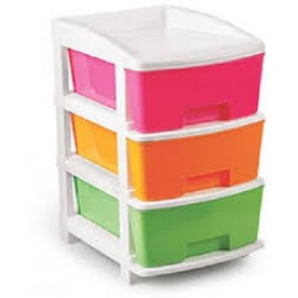 Baby World Plastic multi color Drawer Cupboard 3step