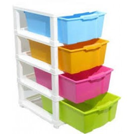 Baby World Plastic multi color Drawer Cupboard 4 step