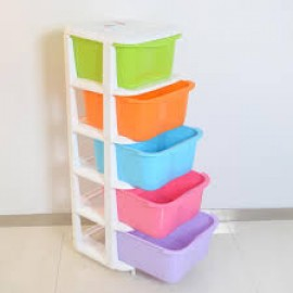 Baby World Plastic multi color Drawer Cupboard 5step