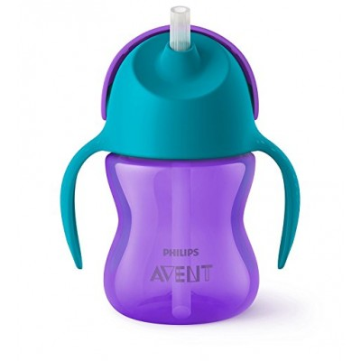 Avent Bendy Straw Cup- Blue & Purple