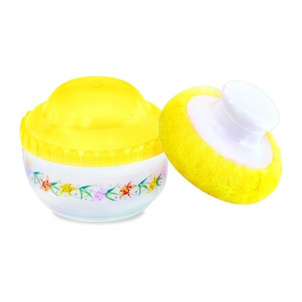Baby World Flower Powder Box Yellow