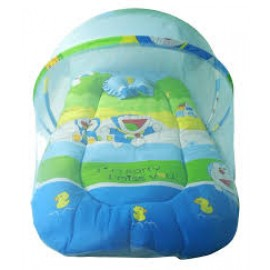 Baby World Cartoon Print Baby Bed Doremon Small Size