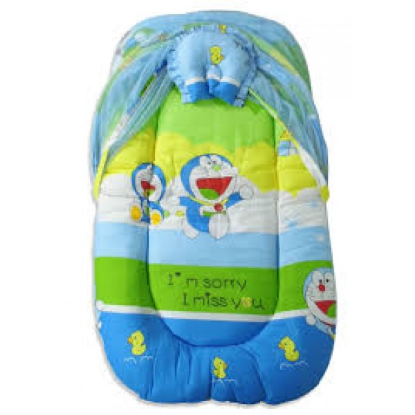 Baby World Cartoon Print Baby Bed Doremon Big Size