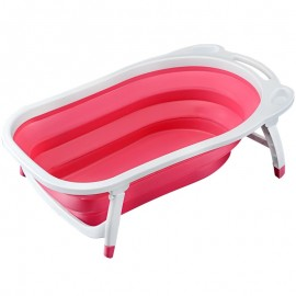 Baby World store foldable bath tub Pink