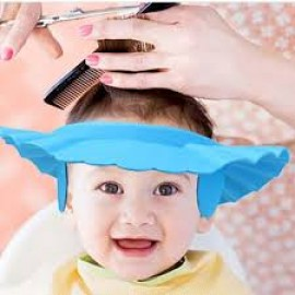 Baby World Store Adjustable Soft Baby Shampoo Cap Hair Shampoo Shield Hat Protect Your Eyes Ear earmuffs Blue Color