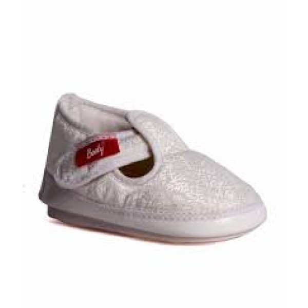Booty Cute White Silk Finish Musical Shoes