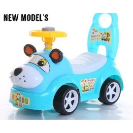 Baby World Cute Puppy  Ride On  Blue