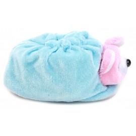 Baby World Store Soft Teddy Newborn Booties Blue