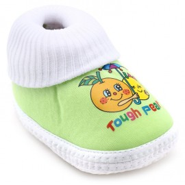 Baby World infant soft shoes Green and White