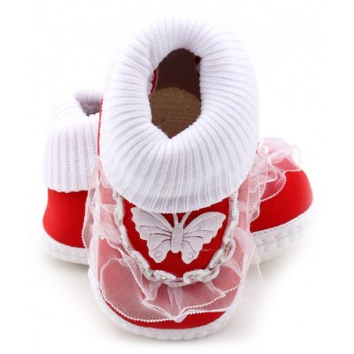 Baby World infant soft shoes Red
