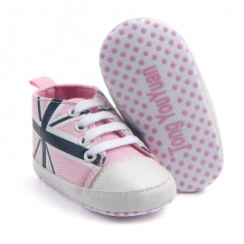 Baby World Soft Soes England Print  Pink