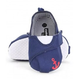 Baby World Store Booties Anchor Print Navy Blue