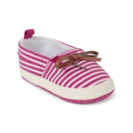 Baby world store Stripe Booties with bow Pink
