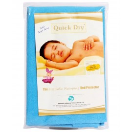 Quick Dry Bed Protector Blue - Small