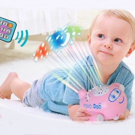 Baby World Store remote control music and lights baby cot projector Pink