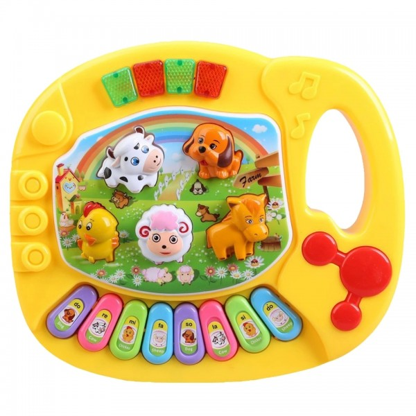 Baby World Animal Piano Small  Yellow