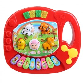 Baby World Animal Piano Small  Red