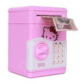Baby World Hello Kitty Toy Battery Operated piggy bank For kids With Open And Lock Password Coin Bank  (Multicolor)