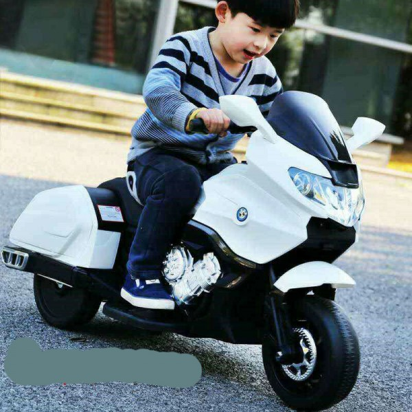 Baby World battery Operated  Bike White (6606)