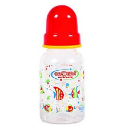 CAMERA NEW-SAFE DECORATED FEEDING BOTTLE ,140ml Red