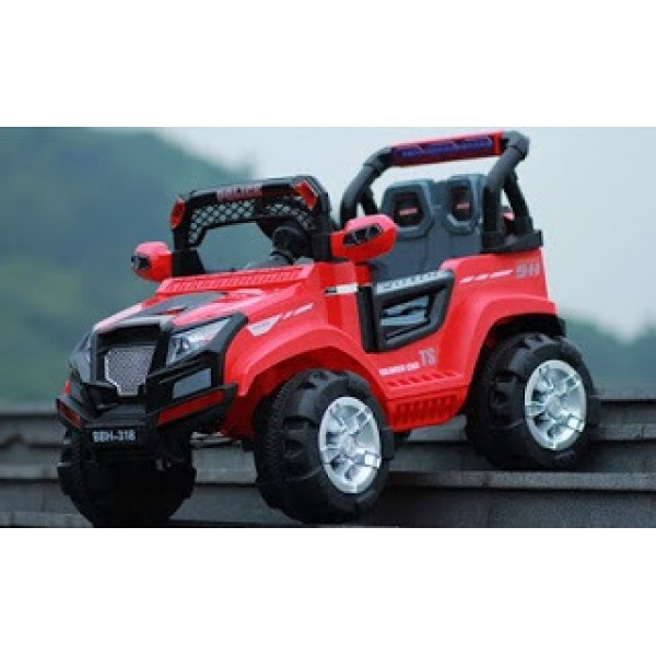 Baby World Wild Jeep Ride On Car (Red 318)