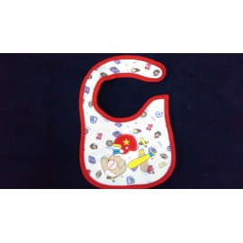 Baby World Welcro Bibs Red
