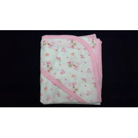 Baby World Store Hooded Hosiery Pink Wrapper