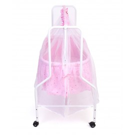 Baby World Dream Time Cradle Printed - Pink