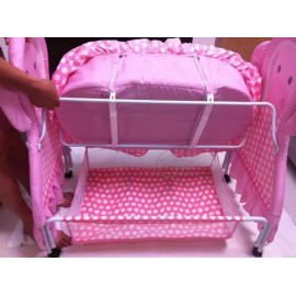 Baby World Fancy Cradle With Mosquito Net Pink