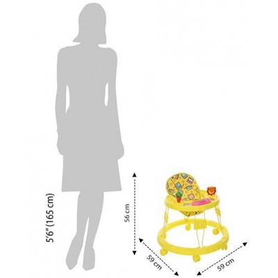 Mothertouch Chikoo Round Musical Walker DX - Yellow