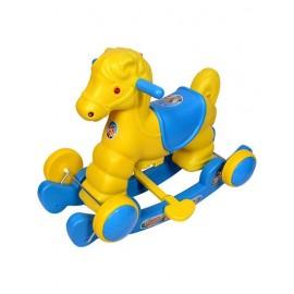 Murphy Horse 2 In 1 Rocker Cum Ride On - Blue