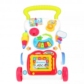 Baby World Store Baby walker with Detachable non-toxic Toys multicolor